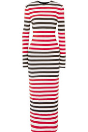Striped stretch-jersey maxi dress
