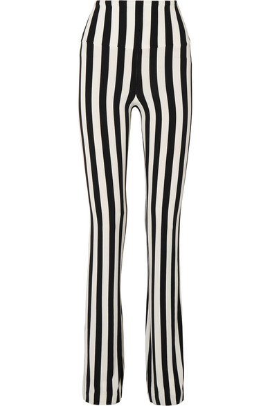 STRIPED STRETCH-JERSEY BOOTCUT PANTS from NET-A-PORTER