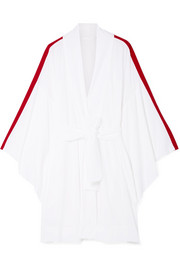 Norma Kamali Striped crepe robe