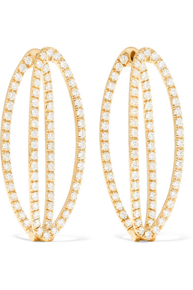 MELISSA KAYE MILA 18-KARAT GOLD DIAMOND EARRING