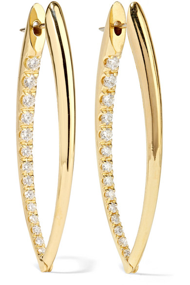 MELISSA KAYE CRISTINA 18-KARAT GOLD DIAMOND EARRINGS
