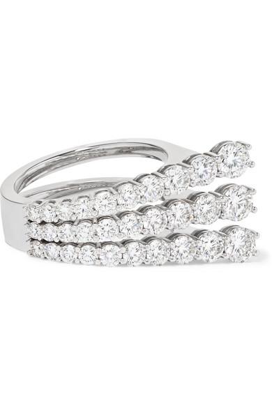 MELISSA KAYE ARIA 18-KARAT WHITE GOLD DIAMOND RING