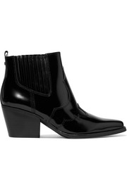 Winona glossed-leather ankle boots