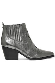 Winona metallic textured-leather ankle boots
