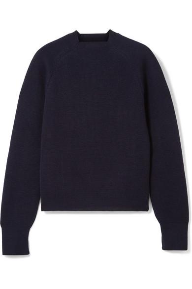 CARCEL Milano Baby Alpaca Sweater in Navy