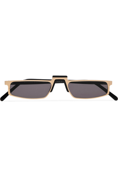 ANDY WOLF MUHREN SQUARE-FRAME METAL SUNGLASSES