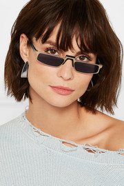 Muhren square-frame metal sunglasses