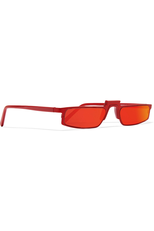 Andy Wolf Ojala square-frame metal mirrored sunglasses