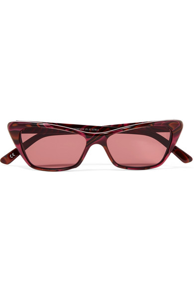 ANDY WOLF CAT-EYE ACETATE SUNGLASSES