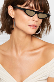 Florence cat-eye acetate mirrored sunglasses