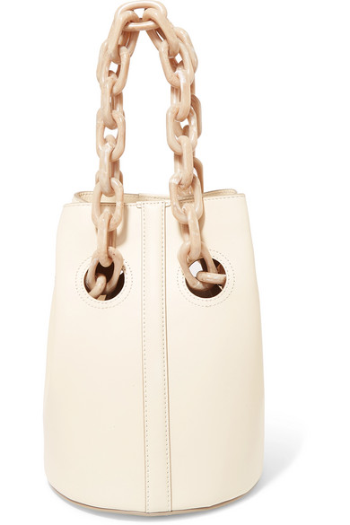 Trademark - Goodall Leather Bucket Bag - Off-white
