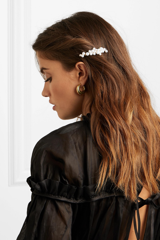 LELET NY Gold-plated faux pearl hairclip
