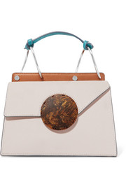 Danse Lente Phoebe Bis mini color-block textured-leather shoulder bag