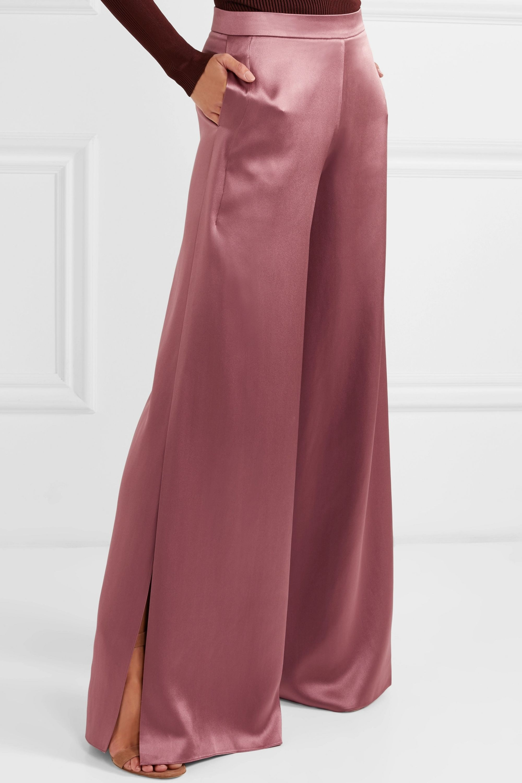 Cushnie Silk-charmeuse wide-leg pants