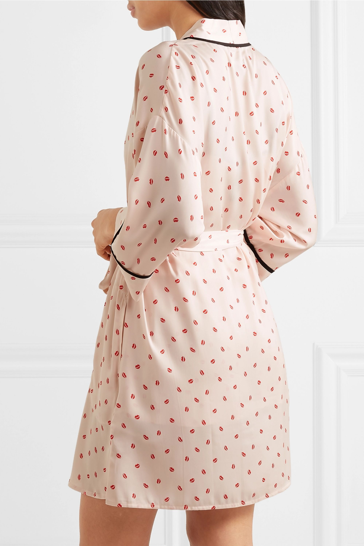 DKNY Printed crepe de chine robe