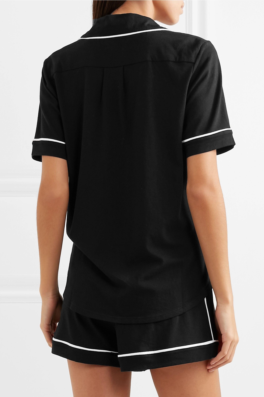 DKNY Signature cotton-blend jersey pajama set