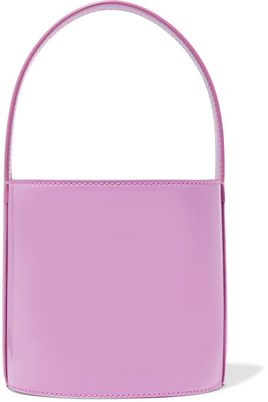 Bissett Patent-Leather Bucket Bag, Pink