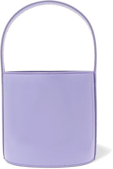 Bissett Patent-Leather Bucket Bag in Lavender