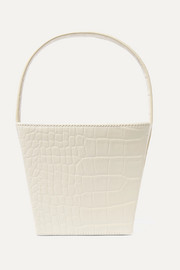 STAUD Edie croc-effect leather tote