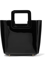Shirley mini patent-leather tote