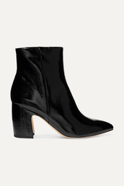 Hilty patent-leather ankle boots