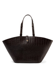 Carmen croc-effect leather tote