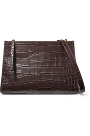Izabel croc-effect leather shoulder bag