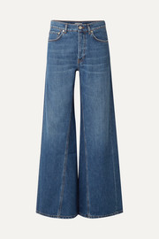 GANNI High-rise wide-leg jeans
