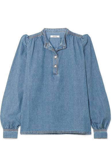 45b41109 GANNI | Denim blouse | NET-A-PORTER.COM