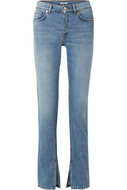GANNI High-rise slim-leg jeans