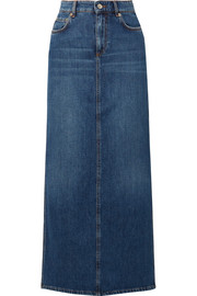 GANNI Denim maxi skirt
