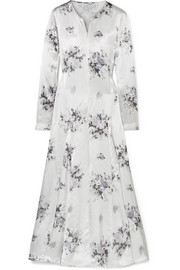 GANNI Cameron floral-print satin midi dress