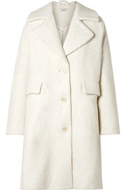 GANNI Fenn oversized wool-blend bouclé coat