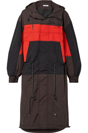 GANNI Faust hooded color-block shell jacket