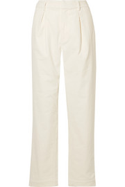 GANNI Ridgewood cotton-blend corduroy straight-leg pants