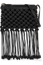 Ulla Johnson Rio macramé and leather shoulder bag