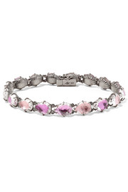Larkspur & Hawk Caterina rhodium-dipped quartz bracelet
