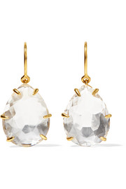 Larkspur & Hawk Caterina gold-dipped quartz earrings