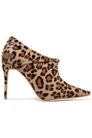 Fausto leopard-print calf hair ankle boots