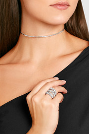 18-karat white gold diamond choker