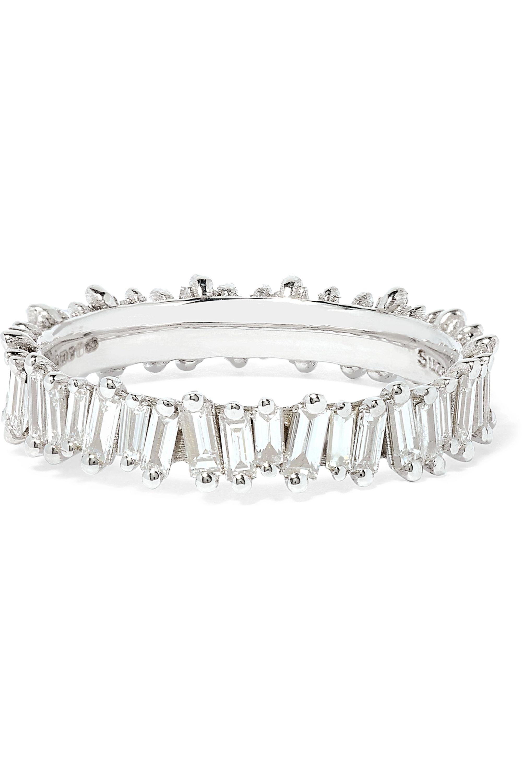 Suzanne Kalan 18-karat white gold diamond ring