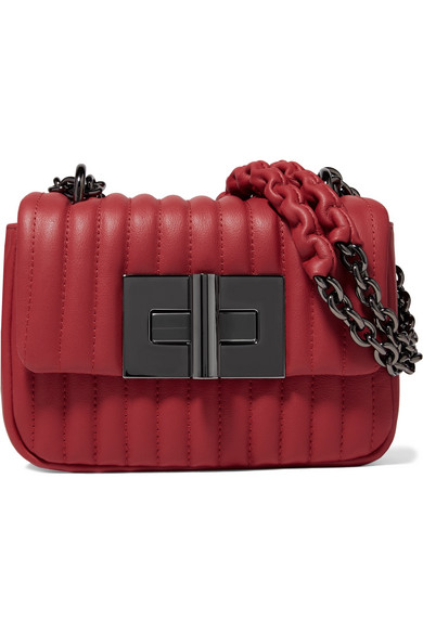 TOM FORD - Natalia Mini Quilted Leather Shoulder Bag - Red