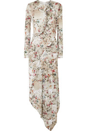 Preen by Thornton Bregazzi Nita ruffled floral-print stretch-crepe midi dress