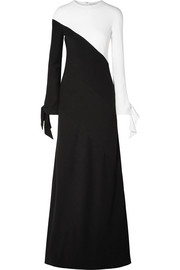 Carolina Herrera Two-tone crepe gown