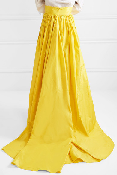 bf3da77d7b Carolina Herrera. Belted pleated silk-satin maxi skirt. $2,690. Play