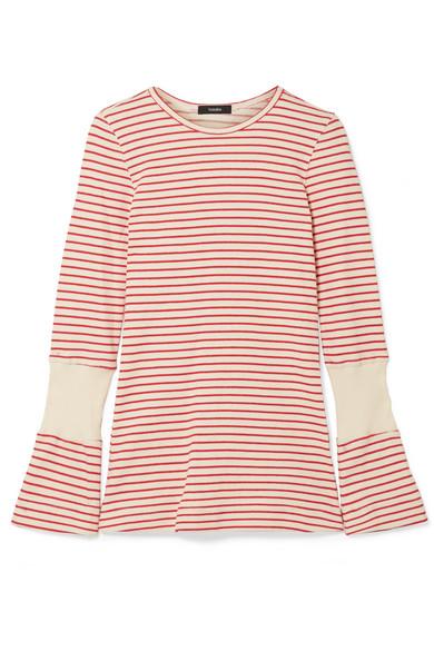 Bassike - Striped Cotton Top - Cream