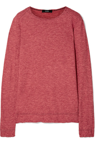 Bassike - Sailor Mélange Cotton-jersey T-shirt - Red