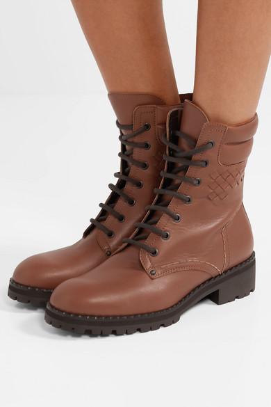 Bottega Veneta Intrecciato Leather Ankle Boots Net A Porter Com
