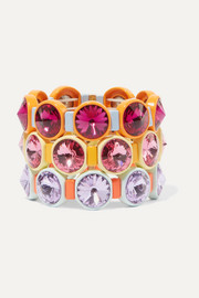 Roxanne Assoulin Technicolor set of three enamel and Swarovski crystal bracelets