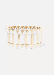Gilded Zig-Zag set of three gold-plated enamel bracelets